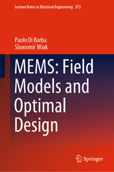 MEMS: Field Models and Optimal Design