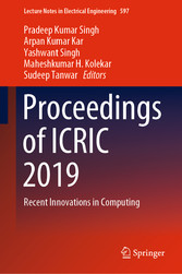 Proceedings of ICRIC 2019 Recent Innovations in Computing