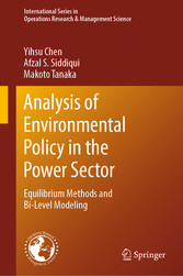 Analysis of Environmental Policy in the Power Sector Equilibrium Methods and Bi-Level Modeling