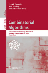 Combinatorial Algorithms 31st International Workshop, IWOCA 2020, Bordeaux, France, June 8-10, 2020, Proceedings