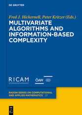 Multivariate Algorithms and Information-Based Complexity