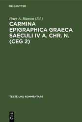 Carmina Epigraphica Graeca Saeculi IV a. Chr. n. (CEG 2)