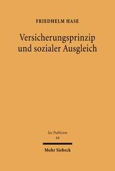 Versicherungsprinzip und sozialer Ausgleich Eine Studie zu den verfassungsrechtlichen Grundlagen des deutschen Sozialversicherungsrechts