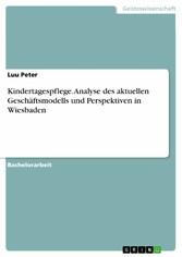 Kindertagespflege. Analyse des aktuellen Geschäftsmodells und Perspektiven in Wiesbaden