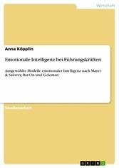 Emotionale Intelligenz bei Führungskräften & Salovey, Bar-On und Goleman