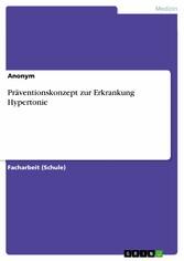 Präventionskonzept zur Erkrankung Hypertonie