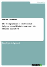 The Complexities of Professional Judgement and  Holistic Assessment in Practice Education