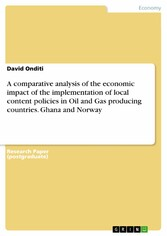 A comparative analysis of the economic impact of the implementation of local content policies in Oil and Gas producing countries. Ghana and Norway