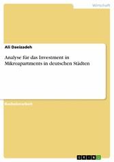 Analyse für das Investment in Mikroapartments in deutschen Städten
