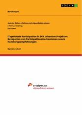 IT-gestützte Partizipation in DIY Urbanism Projekten. Kategorien von Partizipationsmechanismen sowie Handlungsempfehlungen