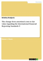 The change from amortised costs to fair value regarding the International Financial Reporting Standards 9