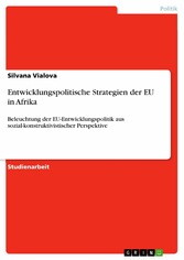 Entwicklungspolitische Strategien der EU in Afrika Beleuchtung der EU-Entwicklungspolitik aus sozial-konstruktivistischer Perspektive