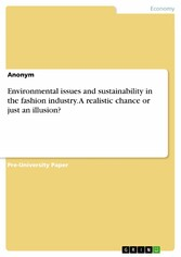 Environmental issues and sustainability in the fashion industry. A realistic chance or just an illusion?