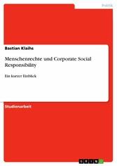 Menschenrechte und Corporate Social Responsibility Ein kurzer Einblick