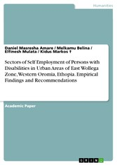 Sectors of Self Employment of Persons with Disabilities in Urban Areas of East Wollega Zone, Western Oromia, Ethopia. Empirical Findings and Recommendations