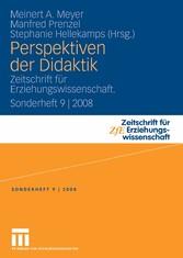 Perspektiven der Didaktik Zeitschrift für Erziehungswissenschaft. Sonderheft 9 | 2008