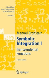Symbolic Integration I Transcendental Functions
