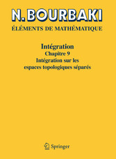 Intégration Chapitre 9 Intégration sur les espaces topologiques séparés