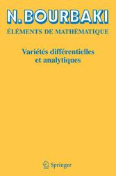 Variétés différentielles et analytiques Fascicule de résultats