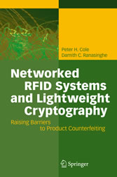 Networked RFID Systems and Lightweight Cryptography Raising Barriers to Product Counterfeiting