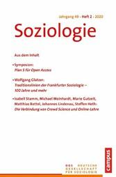 Soziologie 2/2020 Forum der Deutschen Gesellschaft für Soziologie