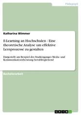 E-Learning an Hochschulen - Eine theoretische Analyse um effektive Lernprozesse zu gestalten Dargestellt am Beispiel des Studienganges Media- und Kommunikationsberatung berufsbegleitend
