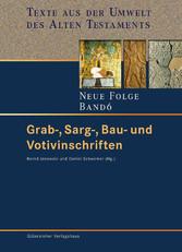 Grab-, Sarg-, Bau- und Votivinschriften
