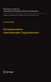 Kompetenzlehre internationaler Organisationen