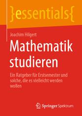 Mathematik studieren Ein Ratgeber für Erstsemester und solche, die es vielleicht werden wollen
