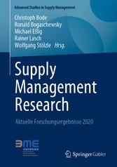 Supply Management Research Aktuelle Forschungsergebnisse 2020