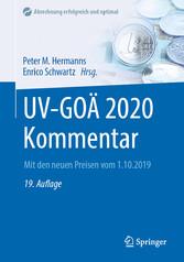 UV-GOÄ 2020 Kommentar Mit den neuen Preisen vom 1.10.2019