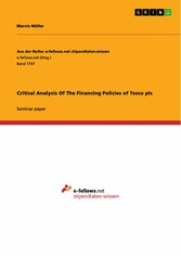Critical Analysis Of The Financing Policies of Tesco plc