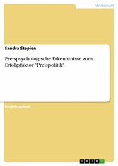 Preispsychologische Erkenntnisse zum Erfolgsfaktor 'Preispolitik'