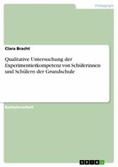 Qualitative Untersuchung der Experimentierkompetenz von Schülerinnen und Schülern der Grundschule