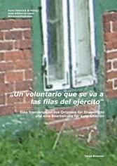 Un voluntario que se va a las filas del ejército Eine Transkription des Originals für Doppelflöte und eine Bearbeitung für zwei Gitarren