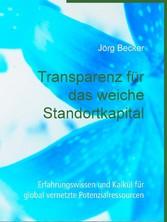 Transparenz für das weiche Standortkapital Erfahrungswissen und Kalkül für global vernetzte Potenzialressourcen