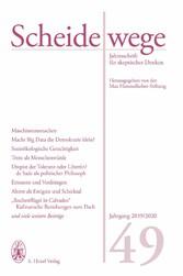 Scheidewege Jahresschrift für skeptisches Denken. Jahrgang 49 - 2019/2020