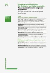 Schweizerische Zeitschrift für Religions- und Kulturgeschichte 2019