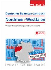 Deutsches Beamten-Jahrbuch Nordrhein-Westfalen Jahresband 2020 Vorschriftensammlung zum Beamtenrecht