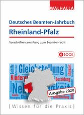 Deutsches Beamten-Jahrbuch Rheinland-Pfalz Jahresband 2020 Vorschriftensammlung zum Beamtenrecht