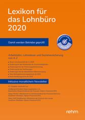 Lexikon für das Lohnbüro 2020 (E-Book EPUB) Arbeitslohn, Lohnsteuer und Sozialversicherung von A-Z