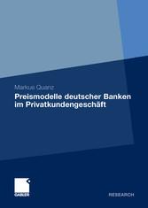 Preismodelle deutscher Banken im Privatkundengeschäft