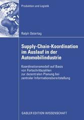 Supply-Chain-Koordination im Auslauf in der Automobilindustrie Koordinationsmodell auf Basis von Fortschrittszahlen zur dezentralen Planung bei zentraler Informationsbereitstellung