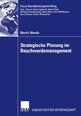 Strategische Planung im Beschwerdemanagement