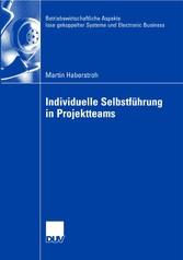 Individuelle Selbstführung in Projektteams Betriebswirtschaftliche Aspekte lose gekoppelter Systeme und Electronic Business