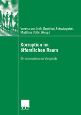 Korruption im öffentlichen Raum Ein internationaler Vergleich