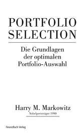 Portfolio Selection Effiziente Diversifikation von Anlagen