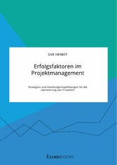 Erfolgsfaktoren im Projektmanagement. Strategien und Handlungsempfehlungen für die Optimierung von Projekten