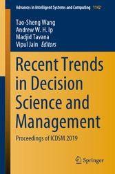 Recent Trends in Decision Science and Management Proceedings of ICDSM 2019