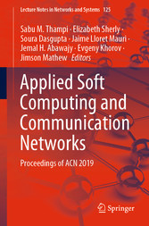 Applied Soft Computing and Communication Networks Proceedings of ACN 2019